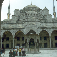 Greece Turkey 1973 - The Blue Mosque in Istanbul