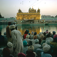 India 1973 - India 1973 - Amritsar and the Golden Temple. We arrived on Diwali, the Indian festival of lights, and the temple was packed.