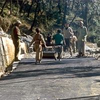 India 1973 - India 1973 - In and around MacLoud Ganj. Building the roads.