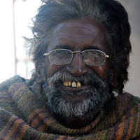 India 2013 Favourites - MacLoud Ganj - Our favourite beggar. He was off to get the cataracts removed from his eyes.