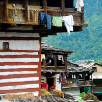 India 2013 Favourites - Old Manali - some of the original buildings have survived but are disappearing fast.