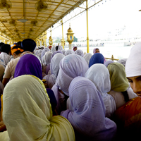 India 2013 Favourites - Golden Temple Amritsar - Home of the Sikhs. Waiting in the queue.