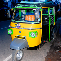 India 2013 The Story - Alleppey (Alappusha), Kerela India. This Tuk tuk is someones pride and joy.